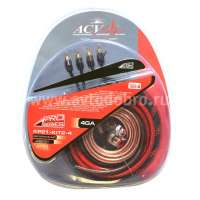 Комплект проводов 2-кан усил-ля 4AWG PRO (ACV 21-KIT2-4) 10шт/мастер