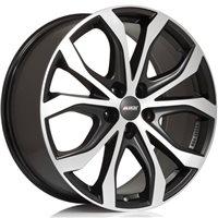 Alutec W10 8x18/5x112 ET47 D66.5 Racing black front polished