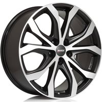 Alutec W10 9x20/5x108 ET43 D70.1 Racing black front polished