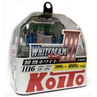 Галогеновая автолампа KOITO H16 WhiteBeam III, 4000K, 19W (P0749W)