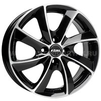 Rial Lugano 7.5x17/5x112 ET36 D70.1 Diamant black front polished