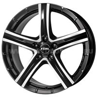 Rial Quinto 8x18/5x114.3 ET45 D70.1 Diamant black front polished