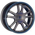 Sparco Rally 7x16/5x108 ET40 D73.1 Matt Silver Tech blue lip