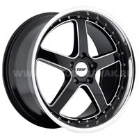 TSW Carthage 8x19/5x108 ET40 D72 Gloss Black Mirror Lip