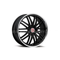 Victor Le Mans 9.5x18/5x130 ET49 D71 Gloss Black Mirror Cut Lip
