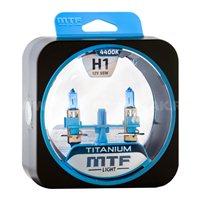 Комплект галогеновых автоламп MTF TITANIUM H1, 55W (HTN1201)