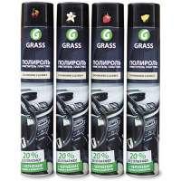 Полироль-очиститель пластика GRASS «Dashboard Cleaner» глянцевый блеск, вишня, 750 мл.