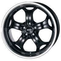 Alutec Boost 10,5x20 / 5x112 ET55 DIA 66,6 Diamant black with stainless steel lip