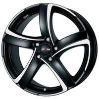 Alutec Shark 7.5x17/5x100 ET35 D63.3 Racing black front polished