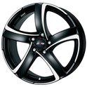 Alutec Shark 7x16/5x115 ET38 D70.2 Racing black polished