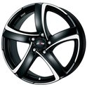 Alutec Shark 7x17/4x98 ET35 D58.1 Racing black polished
