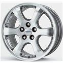 Alutec Leon 7x16/5x110 ET42 D65.1 Sterling Silver