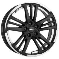 ATS Prazision 7.5x17/5x115 ET40 D70.2 Racing Black Double lip polished