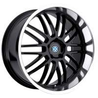 Beyern Mesh 8.5x18/5x120 ET40 D72 Gloss Black Mirror Cut Lip
