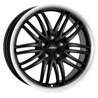 Alutec BlackSun 8.5x18/5x115 ET40 D70.2 Racing Black Lip Polished