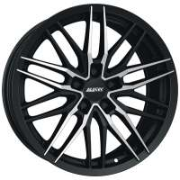 Alutec Burnside 7x16/5x100 ET38 D57.06 Diamant black front polished
