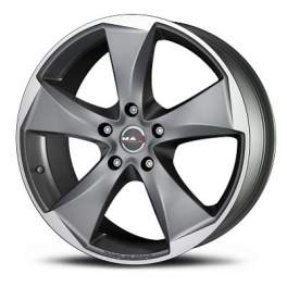 MAK Raptor5 8x17/5x127 ET40 D71.6 Graphite Mirror Face