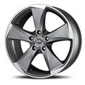 MAK Raptor5 9.5x20/5x120 ET35 D76 Graphite Mirror Face
